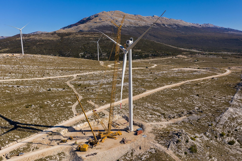 Windpark Podvelezje (Foto: C. Prangl)